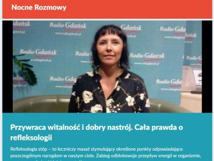 """""""Nocne rozmowy"""" o refleksologii – Iza w Radio Gdańsk"""