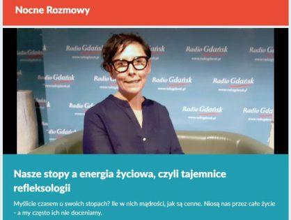 Iza w Radio Gdańsk opowiada o refleksologii